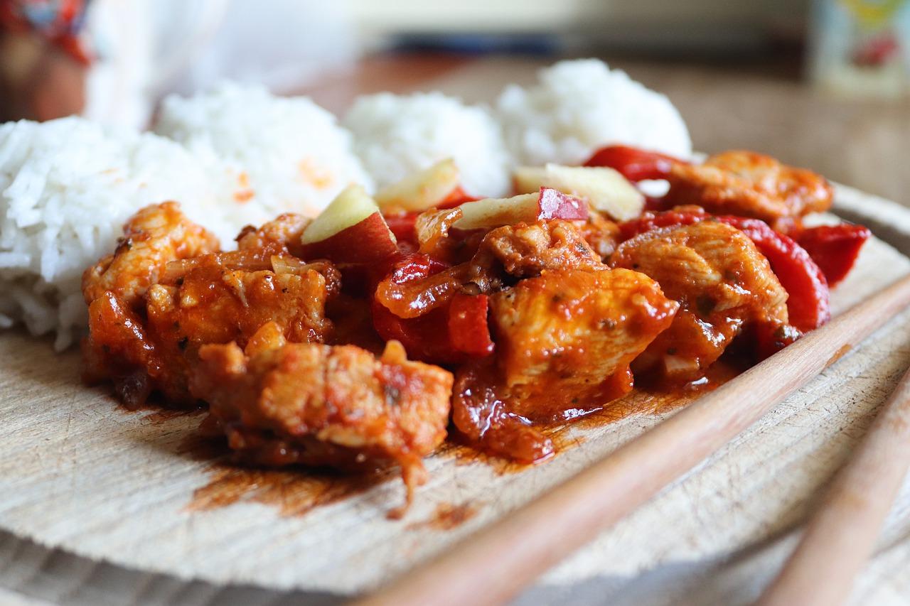 Recept na kuřecí s rýží a omáčkou