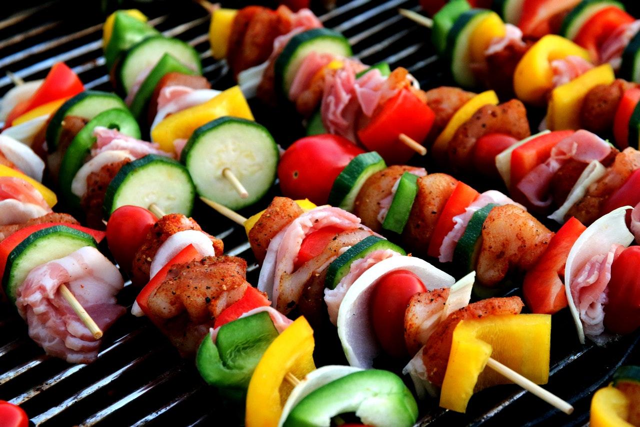 Krevety na grilu - grilované špízy